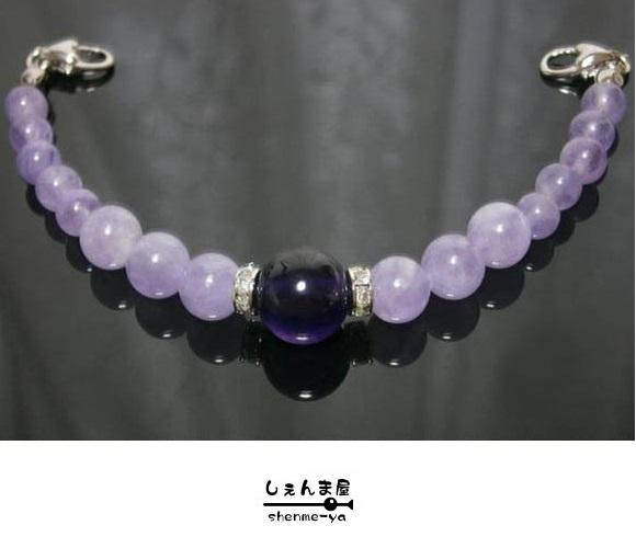 ~グラデーションが美しく~天然石極上アメジストとラベンダーアメジスト女性羽織紐【紫 和装 藤色】