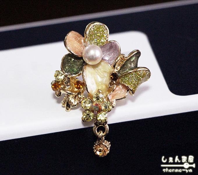 気品花 o○天然あこや本真珠 帯留め 花 まとめ買い特価 着物 和装 定番から日本未入荷