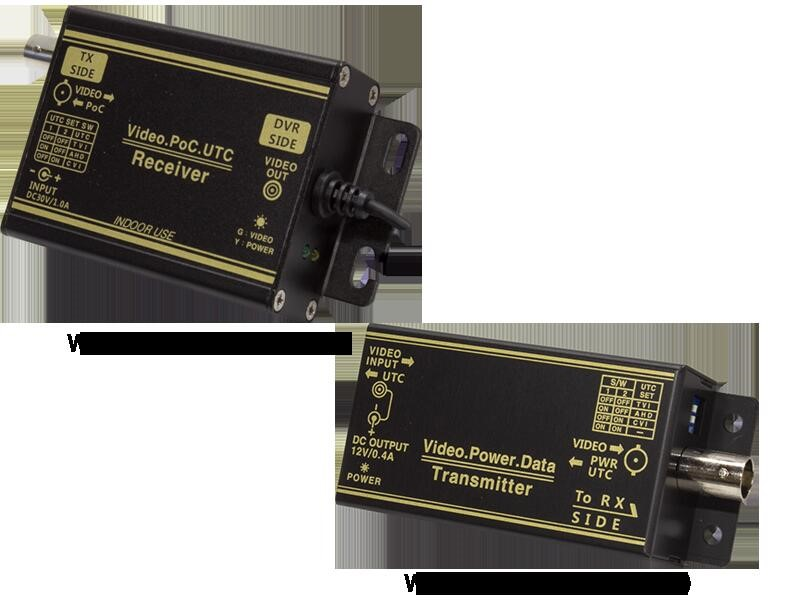 AHDシリーズ用 1CH型 ワンケーブルユニットセット(電源重畳装置)WTW-MVCP0601U