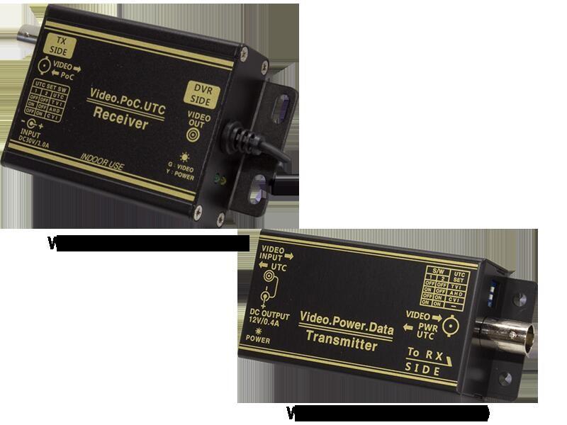 AHDシリーズ用 1CH型 ワンケーブルユニットセット(電源重畳装置)WTW-MVRP0601U