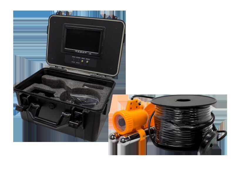 アナログ41万画素 ホワイトLED搭載 魚型水中カメラ録画機能搭載ポータブル7インチモニター内蔵ケースセットWTW-WA1002-9D