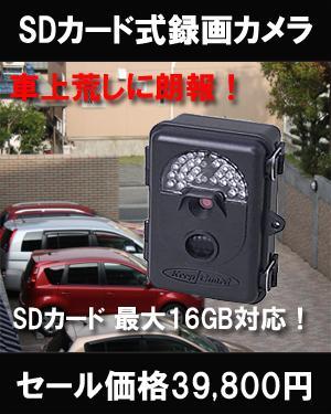 PCC-560 防雨型赤外線SDカード録画式カメラ (送料無料)
