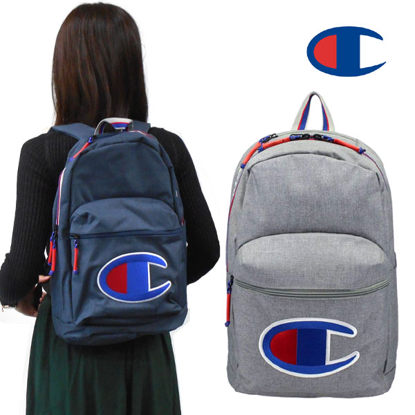 7627deb53c2 Champion rucksack logo embroidery rucksack, D bag, day pack men backpack  Lady s youth outdoor attending school excursion bicycle recreation trip  CHAMPION ...