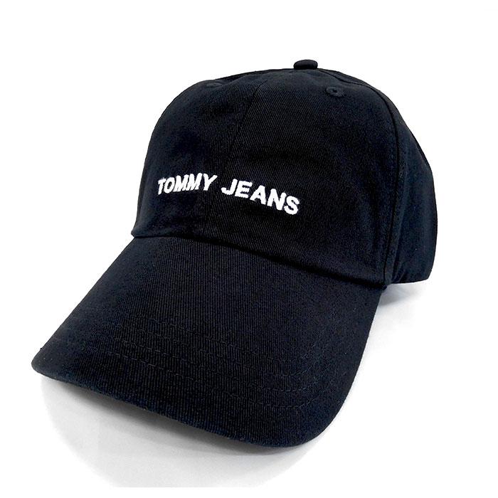 オンラインショッピング トミージーンズ キャップ TOMMY JEANS 帽子 ブラック 海外限定 キャップトミージーンズ 002BLACK メンズレディース100%綿AM04677 CAP