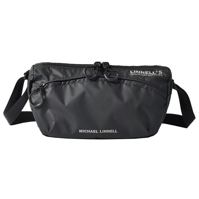 マイケルリンネル ショルダーバッグ サコッシュ サコッシュMICHAEL LINNELL メンズ レディース ボーイズ AL完売しました 約4Lブラック MLAC-11 バック BAG ボディバッグ買い物 即納 お出かけ アウトドア