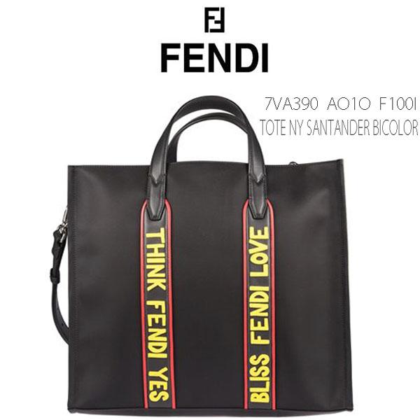 60d296e2f451 SHES ZAKKA  FENDI TOTE NY SANTANDER Fendi vocabulary nylon  amp  leather 2  way tote bag BLACK (black) + multicolored