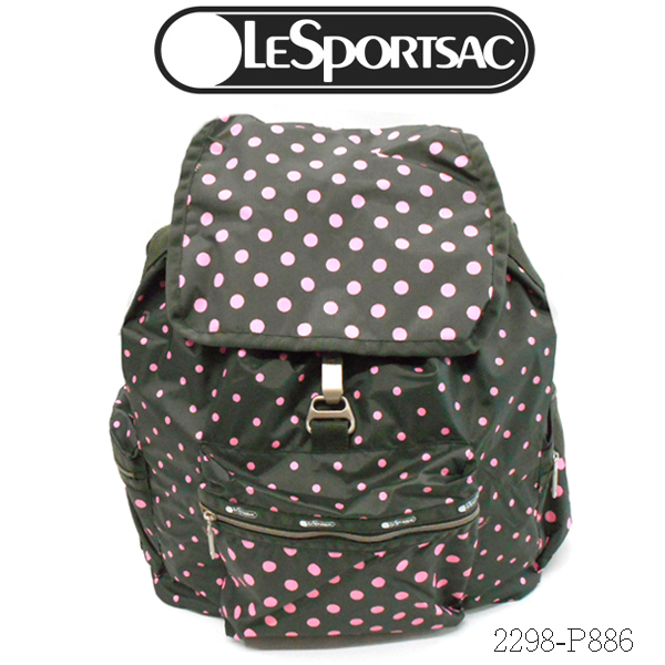 LeSportsac 3 ZIP VOYAGER BACKPACK 2298 P886レスポートサック ボイジャー バックパック、リュックESSENTIAL SUN MULTI GRAVAL C(サンマルチグラベル)