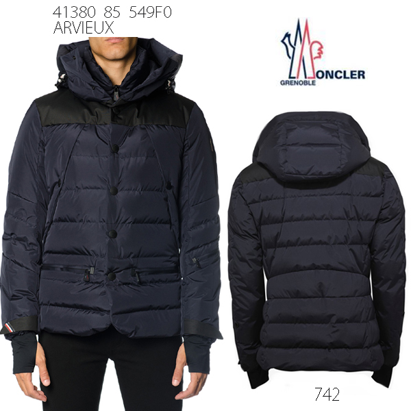 9fac9678a860 ☆742-NAVY (navy) with the autumn of 2017 winter model ☆ MONCLER GRENOBLE  ARVIEUX Monk rail Grenoble men down jacket food
