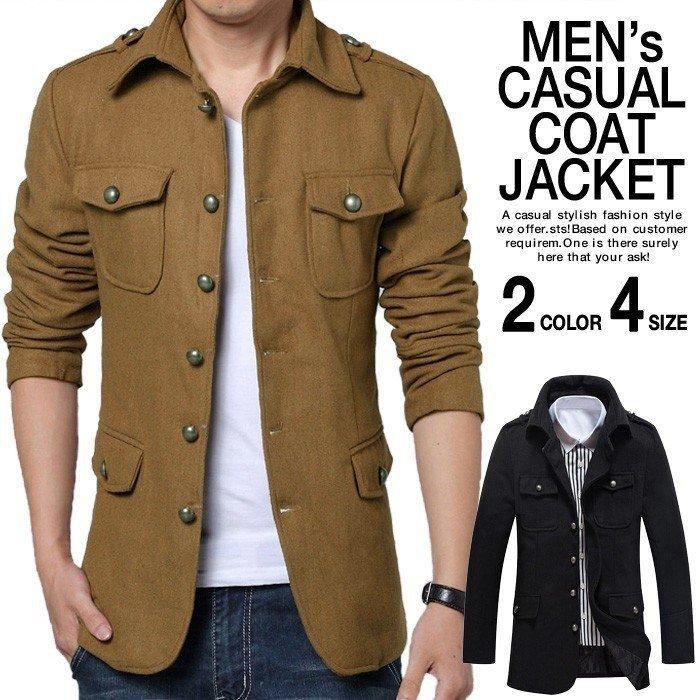 オープン記念 セール ジャケット メンズ ボタン コート アウター お兄系 コーディネート 紳士服