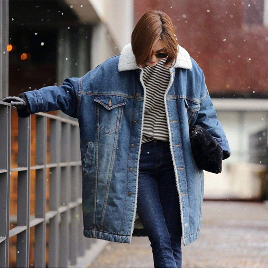 レディース デニムコート 裏ボア 防寒 コート 冬 ゆったり デニム ロング ジージャン 暖か アウター カジュアル 秋 冬