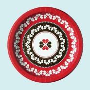 ピクニック キャンプ 雑貨 誕生日会 大人気 バースデー 紙皿 バレンタインデー クローバー 驚きの値段で 6枚入り ハート ペーパープレート
