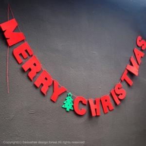 インテリア ガーランド メリー クリスマス xmas デコレーション オーナメント ツリー 格安 新着 パーティー レッド 雑貨