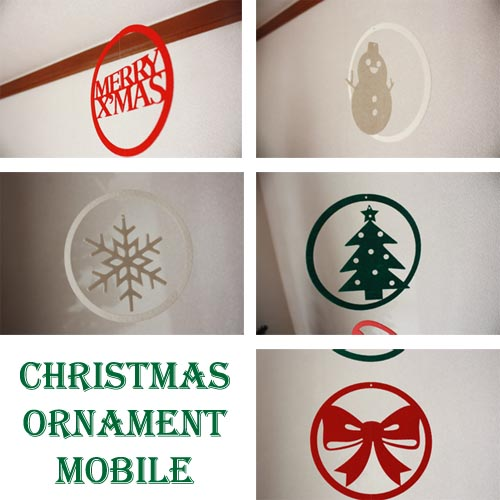 Biscottiだけの特別なクリスマスデコレーション ゆうパケット メール便OK 迅速な対応で商品をお届け致します メール便送料無料 ☆ クリスマス オーナメントモビール 7つ入り インテリア デコレーション パーティー オーナメント ガーランド 雑貨 xmas ツリー メリー 正規逆輸入品