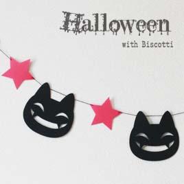 ガーランド ハロウィン halloween 業界No.1 かぼちゃ 蜘蛛 コウモリ オバケ 全国どこでも送料無料 パーティー デコレーション 飾り にっこり黒猫ガーランドガーランド ゴースト メール便送料無料
