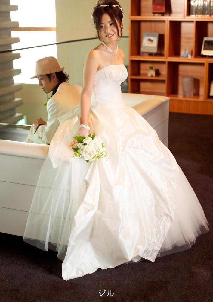 ウェディングドレス 白 ドレス ジル 花嫁 ホワイト 結婚式【レンタル】