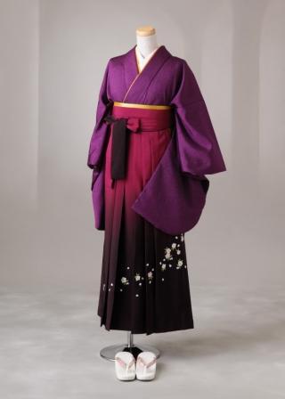 卒業式 袴 レンタル 12点セット 送料無料 gr012 紫 Mサイズ