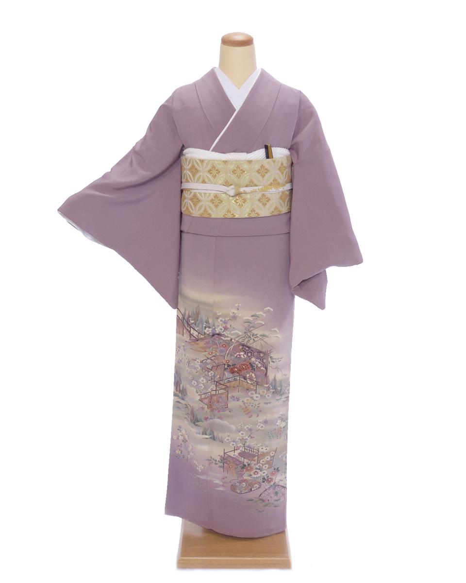 色留袖 レンタル is01 淡紫に優しい花 Mサイズ 結婚式 貸衣装 往復送料無料 【レンタル】