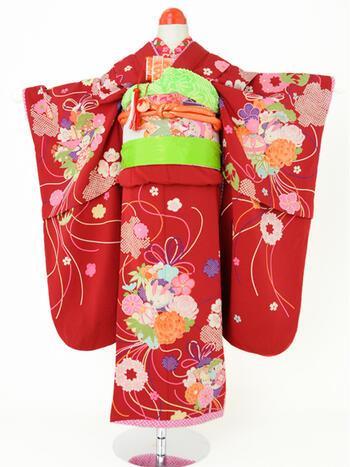 七五三レンタル フルセット 7才 女児「こまいこちゃま」(身長105cm~115cm) j718【レンタル】【お中元大市】
