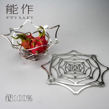 能作 かご「KAGO - ピオニー - L」錫100%【能作 501421】