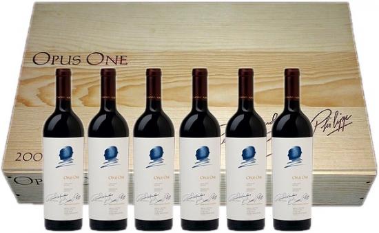 【送料無料】<史上初 100点オーパス 2013年> オーパス・ワン (Opus One)オリジナル木箱入り 6本セット 750ml【オーパスワン】 カリフォルニア ナパバレー ワイン
