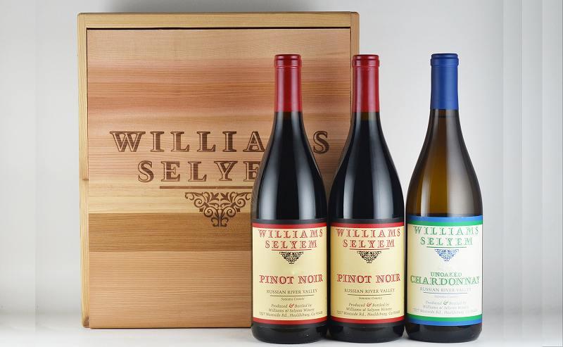 【オリジナル木箱入り】ウィリアムズ・セリエム ロシアンリバーヴァレー3本セット(ピノ1種、シャルドネ1種)[カリフォルニアワイン][ワインセット][新着商品]