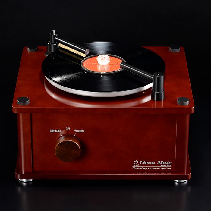 クリーンメイト IQ1100A レコードクリーナー バキューム機能付き レコード洗浄液、洗浄ブラシ バキューム式(レコード)クリーナー