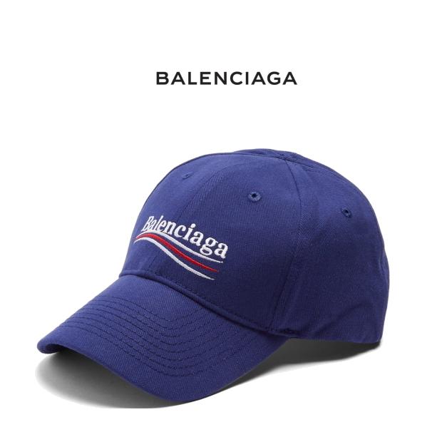 バレンシアガ BALENCIAGA キャップ ブルー Logo-embroidered cotton cap ロゴ入り レディース/メンズ兼用【新品 正規品】505985 310B5 4277 コレクション ベースボール NEW POLITICAL BLUE 青 GABARDINE HAT ハット