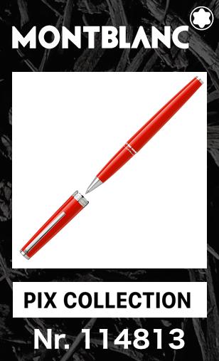 名入れ モンブラン PIX ローラーボール コーラルレッド 114813【2年間★メーカー国際保証付】正規ギフト包装可 MONTBLANC PIX Collection Coral Red Rollerball Pen 水性 ペン メンズ レディース兼用 正規並行輸入品 高級文具