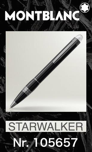 名入れ モンブラン 105657 ボールペン【2年間★メーカー国際保証付】正規ギフト包装リボン可 スターウォーカー ミッドナイトブラック レジン MONTBLANC STARWALKER MIDNIGHT BLACK Ballpoint Pen 正規並行輸入品 高級文具 25690 成人祝い プレゼント