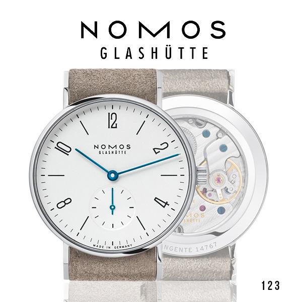ノモス NOMOS タンジェント 123 腕時計 TN1A1W233【メーカー国際保証2年間付き】レディース/メンズ兼用 Tangente 33 サファイヤクリスタルバック ホワイト/シルバー スモールセコンド 32.5mm 時計 ドイツ製 GLASHUTTE 手巻き 男女兼用(お取寄せ商品)