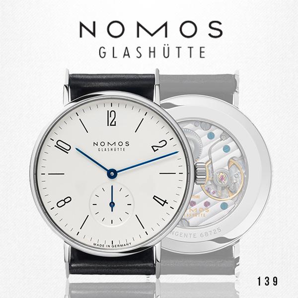 ノモス NOMOS タンジェント 139 メンズ 腕時計 TN1A1W2【メーカー国際保証2年間付き】Tangente スモールセコンド 35mm ホワイト×ブラック 時計 ドイツ製 GLASHUTTE 手巻き