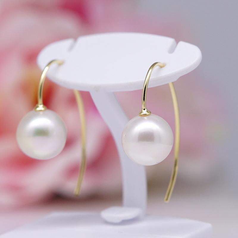 【送料無料】 K18 あこや真珠フックピアス 8.0~8.5mm    パーティー 結婚式 卒業式 入園式 入学式 母の日 プレゼント ホワイトデー 冠婚葬祭