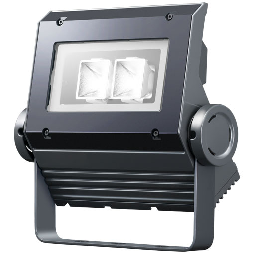 【メーカー直送】岩崎電気製 LEDフラッドネオ 40クラス(中角タイプ)(昼白色タイプ)【屋外・屋内用】(電源ユニット内蔵形)本体色:ダークグレイ 品番:ECF0497N/SAN8/DG