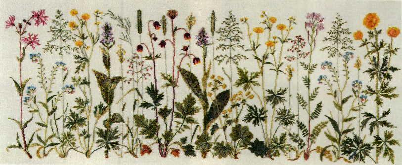 フレメ クロスステッチ刺繍キット 輸入 Prairie flowers 草原の花 Haandarbejdets Fremme デンマーク 北欧 12B GB 上級者 30-4654