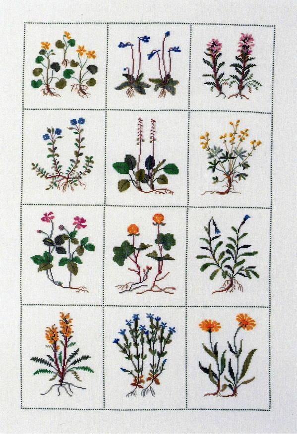 フレメ クロスステッチ刺しゅうキット 【高山植物】 デンマーク 北欧 上級者 輸入 30-3938