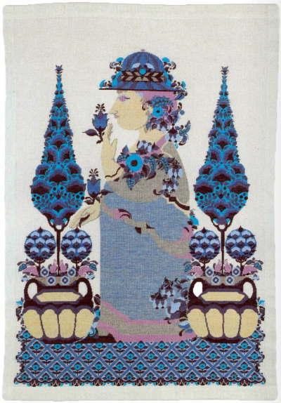 フレメ(Fremme) クロスステッチ刺繍キット ブルー・レディ 輸入 デンマーク 北欧 上級者 30-6316