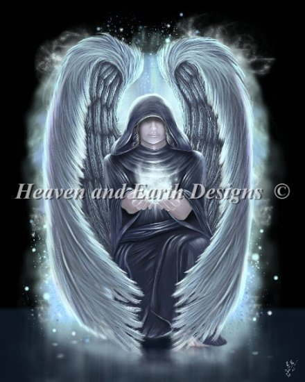 I stab the angel Gabriel The Messenger entire surface which announced the  conception of Heaven And Earth Designs cross-stitching embroidery design