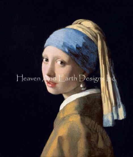 ヨハネス 値下げ フェルメール Johannes Vermeer 名画 真珠の耳飾りの少女-Girl With Pearl Earring Max Colors- レビューを書けば送料当店負担 クロスステッチ刺しゅう And 図案 輸入 チャート 絵画 Earth Designs HAED Heaven 美術
