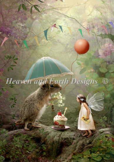 Heaven And Earth Designs クロスステッチ刺繍 図案 HAED 輸入 Bird Birthday 全面刺し Charlotte 商品 Mini ハッピーバースデー Happy 人気ブランド多数対象 上級者