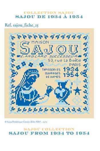 Sajou サジュー クロスステッチ刺しゅうチャート 価格交渉OK送料無料 図案 GRILLE DE POINT CROIX 予約 GRI_PDC_SAJOU_15 手芸 1934 1954 輸入 付与 SAJOU