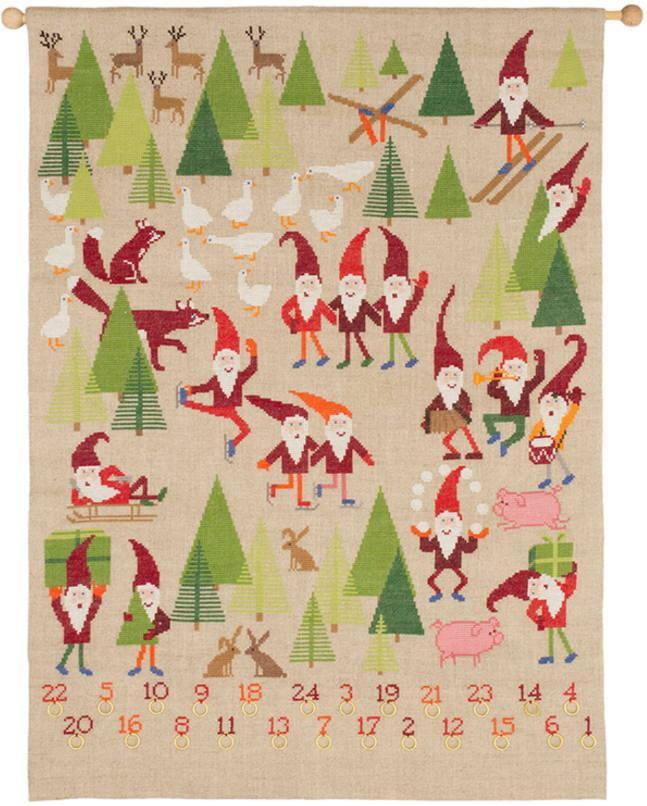 フレメ クロスステッチ刺繍キット 【クリスマスのピクシーズ・ノーム】 デンマーク 北欧 上級者 34-6970