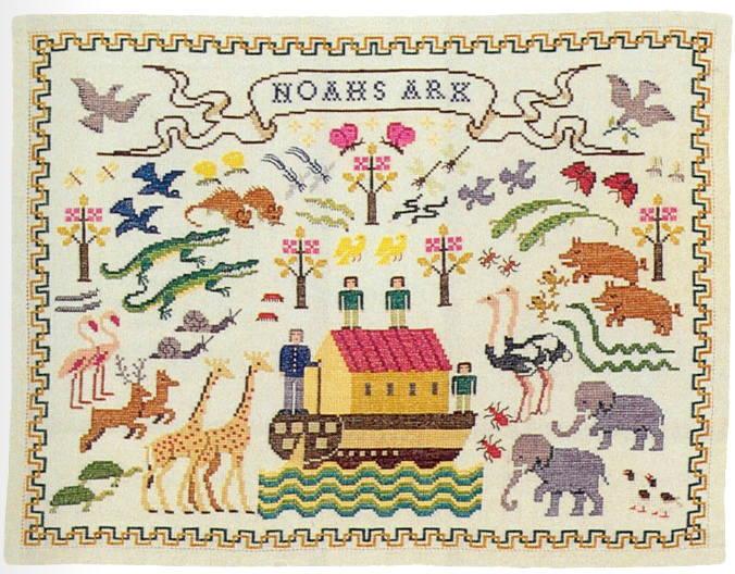 【送料無料】フレメ Noahs ark ノアの箱舟 7B クロスステッチ Haandarbejdets Fremme キット デンマーク 北欧 ギルド 刺しゅう GB 30-4830