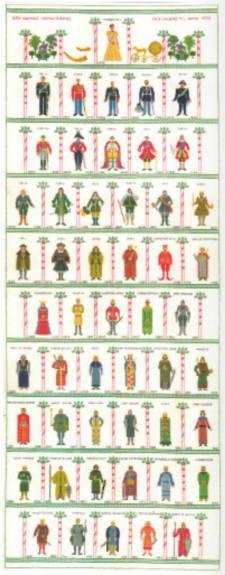 フレメ クロスステッチ刺繍キット 【デンマーク王室一行】輸入 北欧 デンマーク 上級者 30-3279