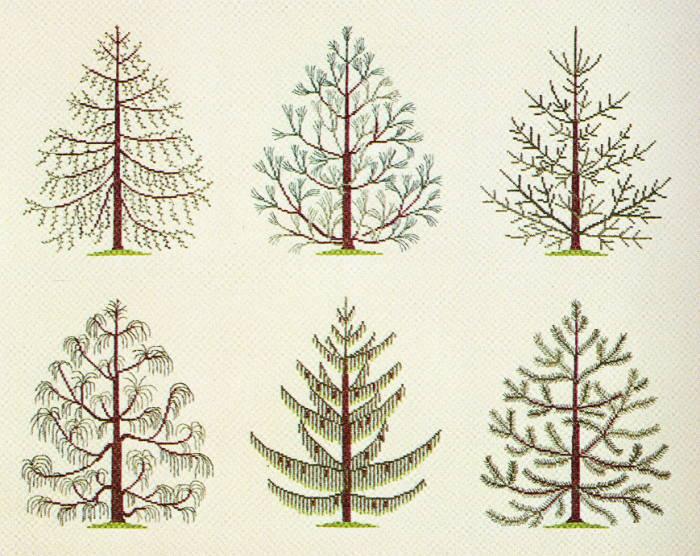 フレメ クロスステッチ刺繍キット 輸入 Tree 木 Haandarbejdets Fremme デンマーク 北欧 10B GB 上級者 30-5144