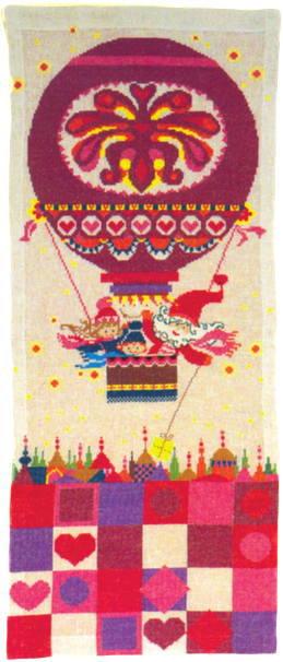 フレメ クロスステッチ刺繍キット 【クリスマスの風船の旅】 デンマーク 北欧 輸入 上級者 34-4315
