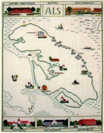 【送料無料】フレメ Als landkort アルスの地図 12B クロスステッチ Haandarbejdets Fremme キット 刺しゅう デンマーク 北欧 手工芸 ギルド AN 30-5204
