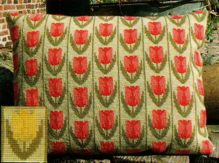 【送料無料】フレメ Tulipaner på række gul uldgarn 黄色いチューリップ/ウール糸 ST.Z. クロスステッチ Haandarbejdets Fremme キット デンマーク 北欧 ギルド 刺しゅう EH 20-6662