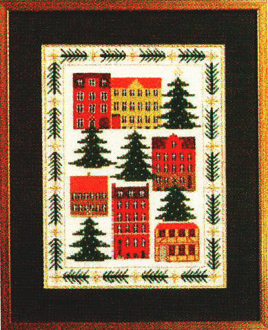 Town 12B kit Haandarbejdets Fremme cross-stitching Denmark North Europe guild embroidery 30-5839 of フレメ Juleby Christmas