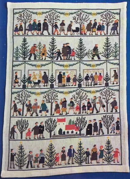 フレメ クリスマスモチーフ クロスステッチ刺繍キット 輸入 Julemotiver デンマーク Haandarbejdets Fremme 北欧 7B GB 上級者 30-2886