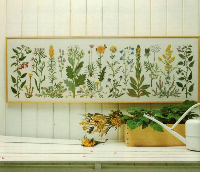フレメ クロスステッチ刺繍キット 輸入 Coastal flowers 海岸の花 Haandarbejdets Fremme デンマーク 北欧 10B 上級者 GB 30-5406